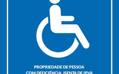 MUDANÇAS ISENÇÃO DE ICMS PARA PESSOAS COM DEFICIÊNCIA FÍSICA